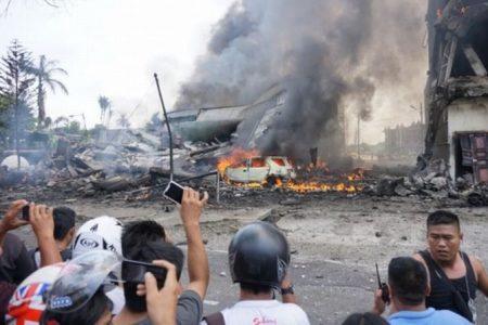 Pesawat Hercules Jatuh di Jamin Ginting